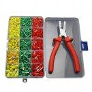 Crimping Crimp Tool Crimper Plier with Tube End Ferrule Terminals Assortment Kit