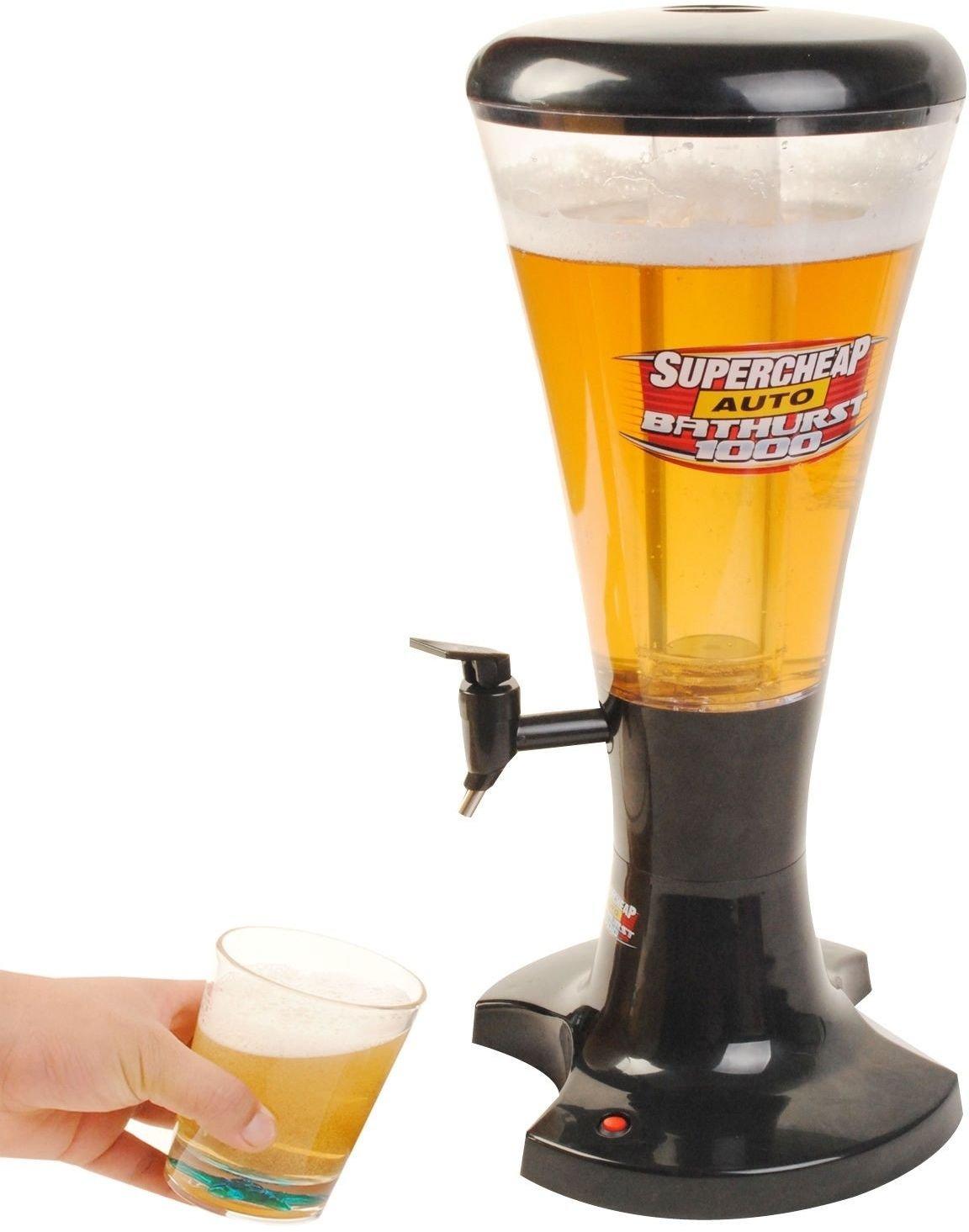 3L Draft Beer Drinks Drink Cola Juice Tower Dispenser Plastic with LED Lights