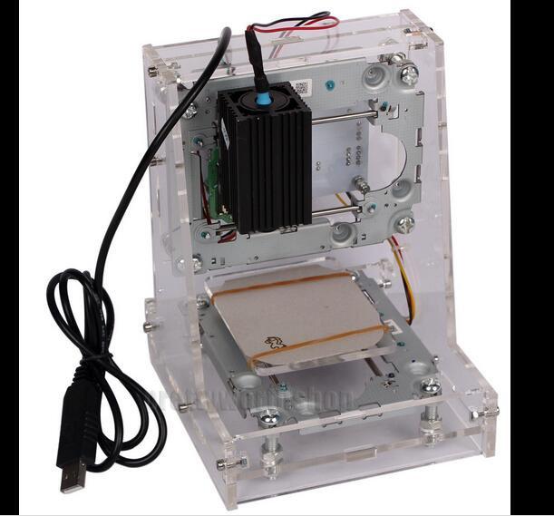 USB Mini Laser 300mW Engraving Machine Carving Logo Photo Marking DIY Printer