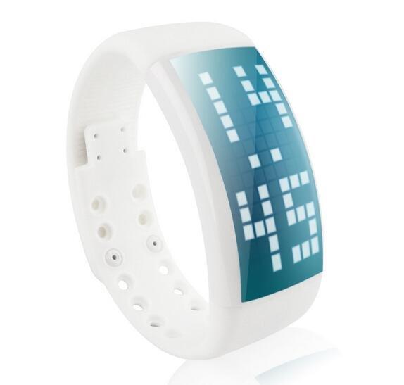 PEDOMETER WRIST WATCH 3D PEDOMETER LED DISPLAY USB FLASH DRIVE 8GB ROM TIME DATE