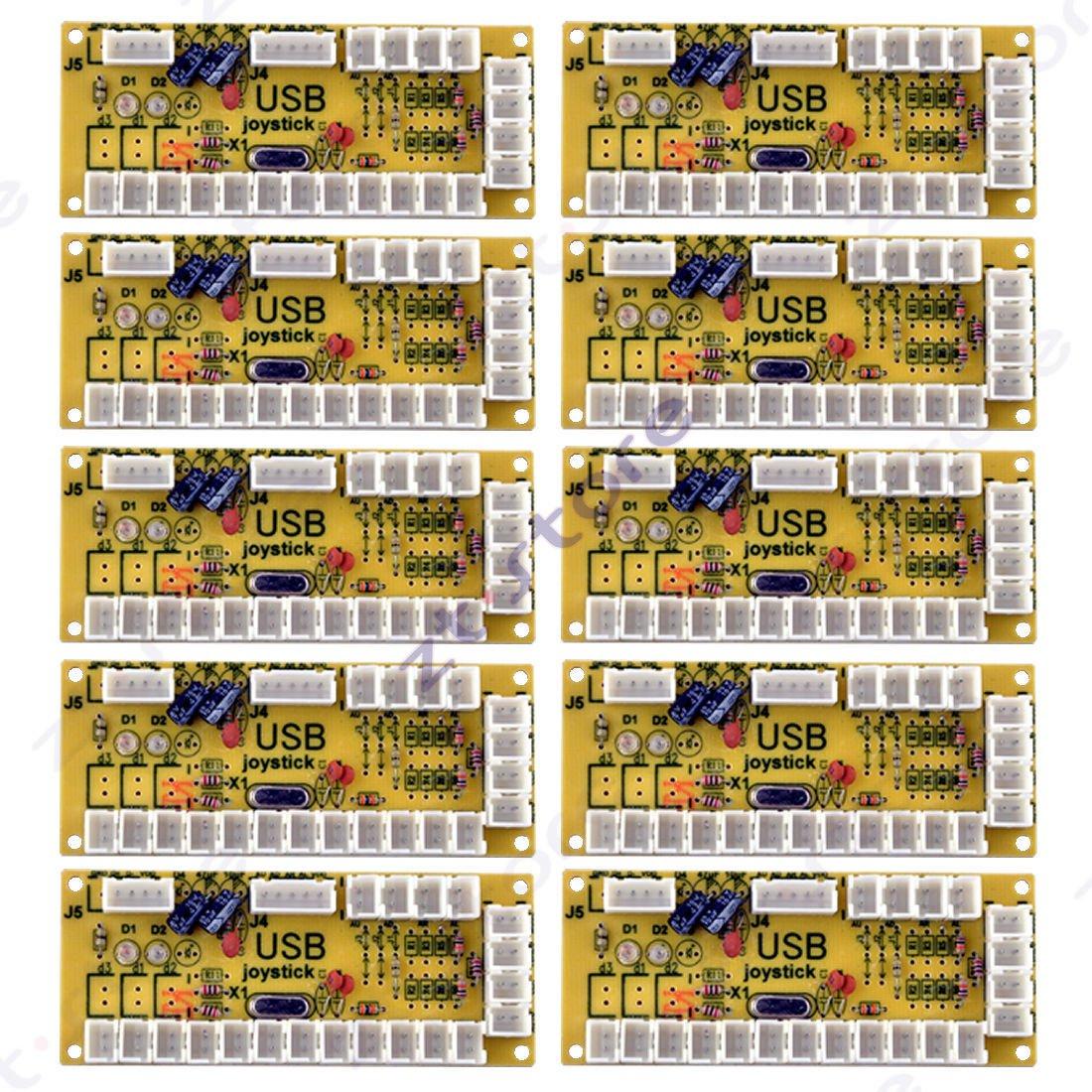 10 pcs Zero Delay Arcade Encoder Custom Fight Stick Joystick PCB Control Board