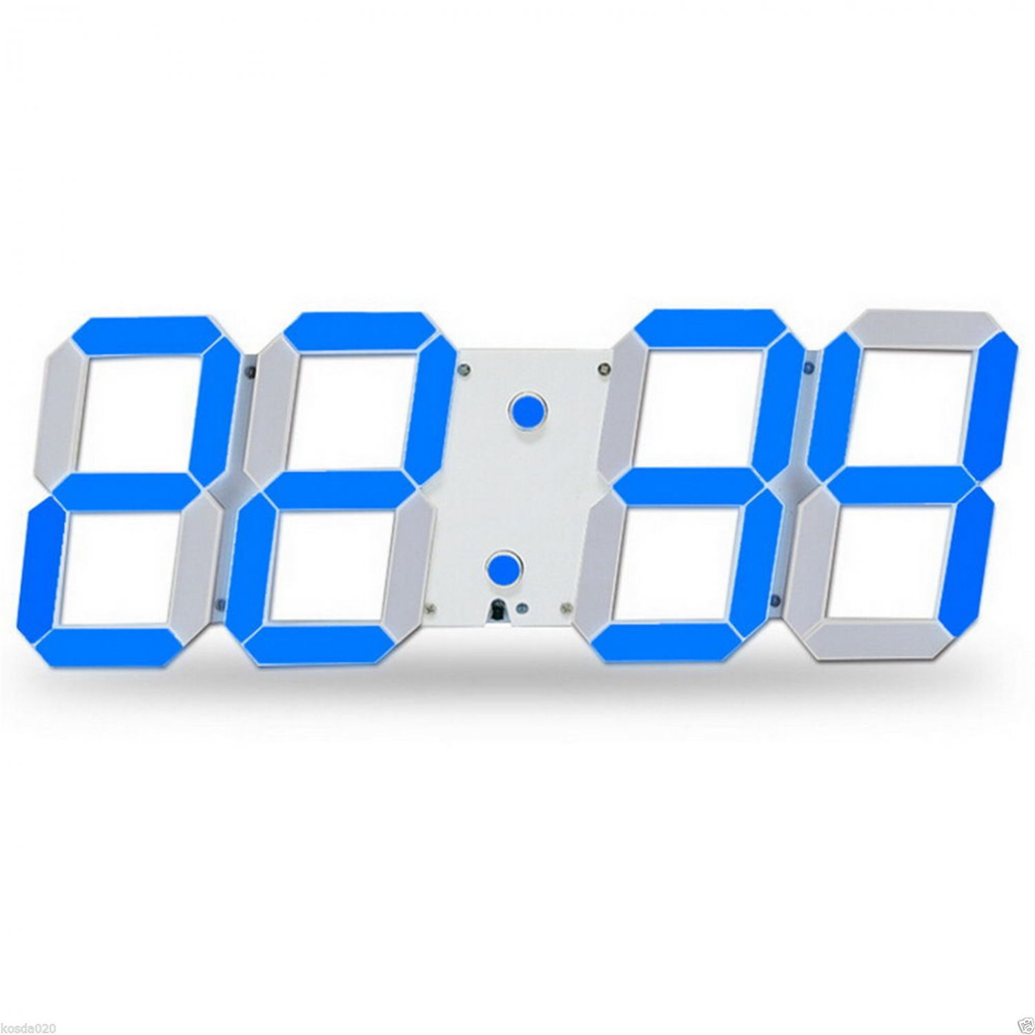 Modern Large Oversize Wall Clock Led Digital Countdown Watch 12 24 Hour Display