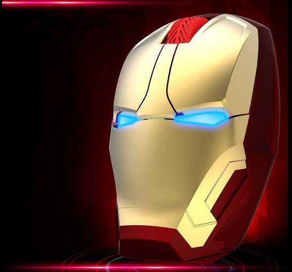 Useful Iron Man 3 USB Wireless Mice Wireless Mouse Computer Mice For PC Laptop