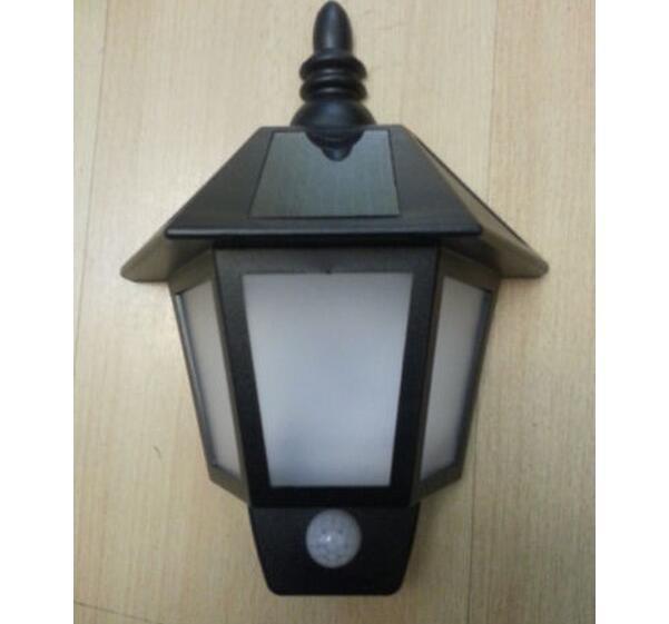 Solar Power PIR Motion Sensor Wall Light Outdoor Out Door Waterproof Garden Lamp