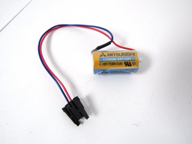 NEW PLC Mitsubishi A6BAT ER17330V 3.6V 2000mAh Lithium Power Battery w/ Plug