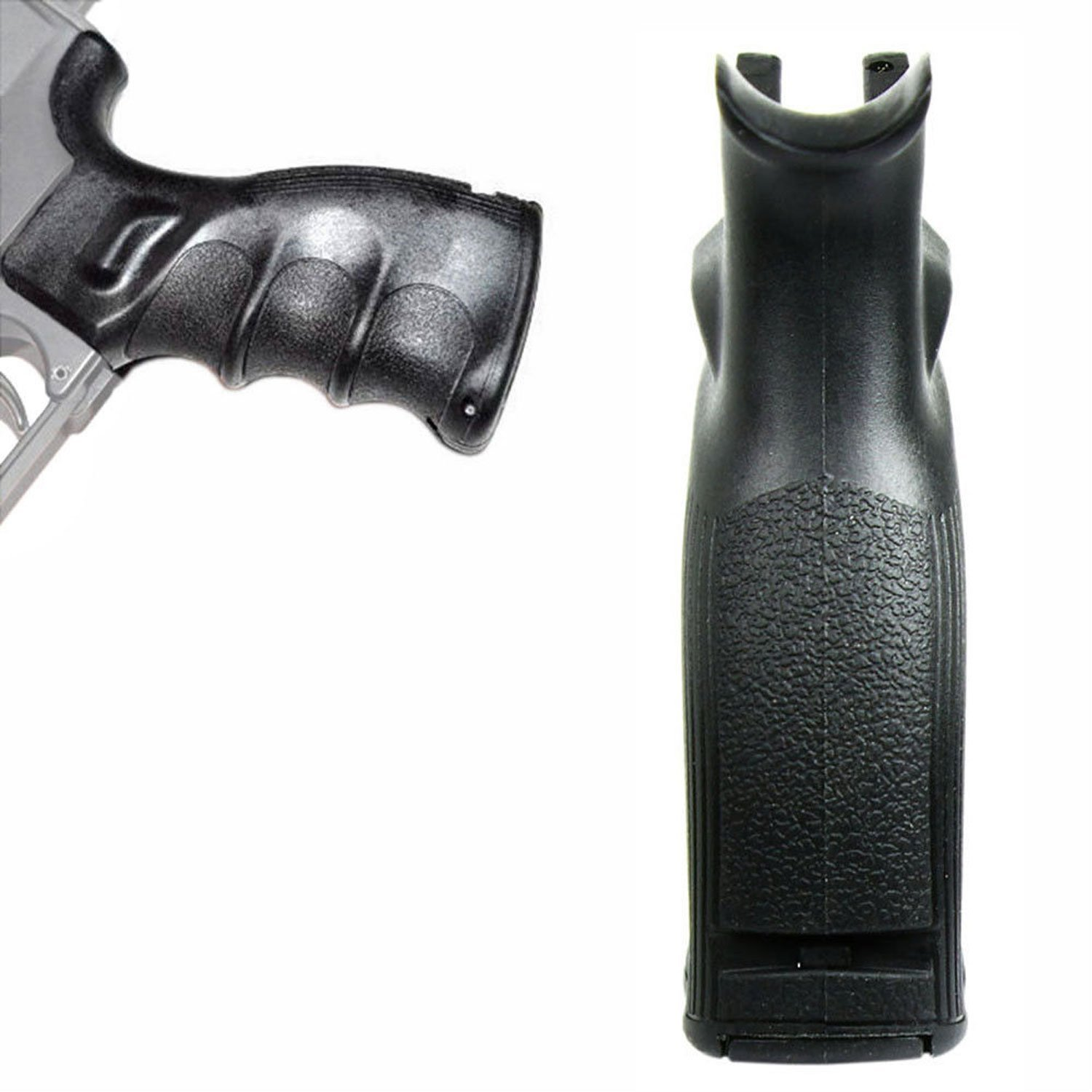 556 223 Ergonomic Rifle Pistol Grip with Finger Groves Storage Compartment Black