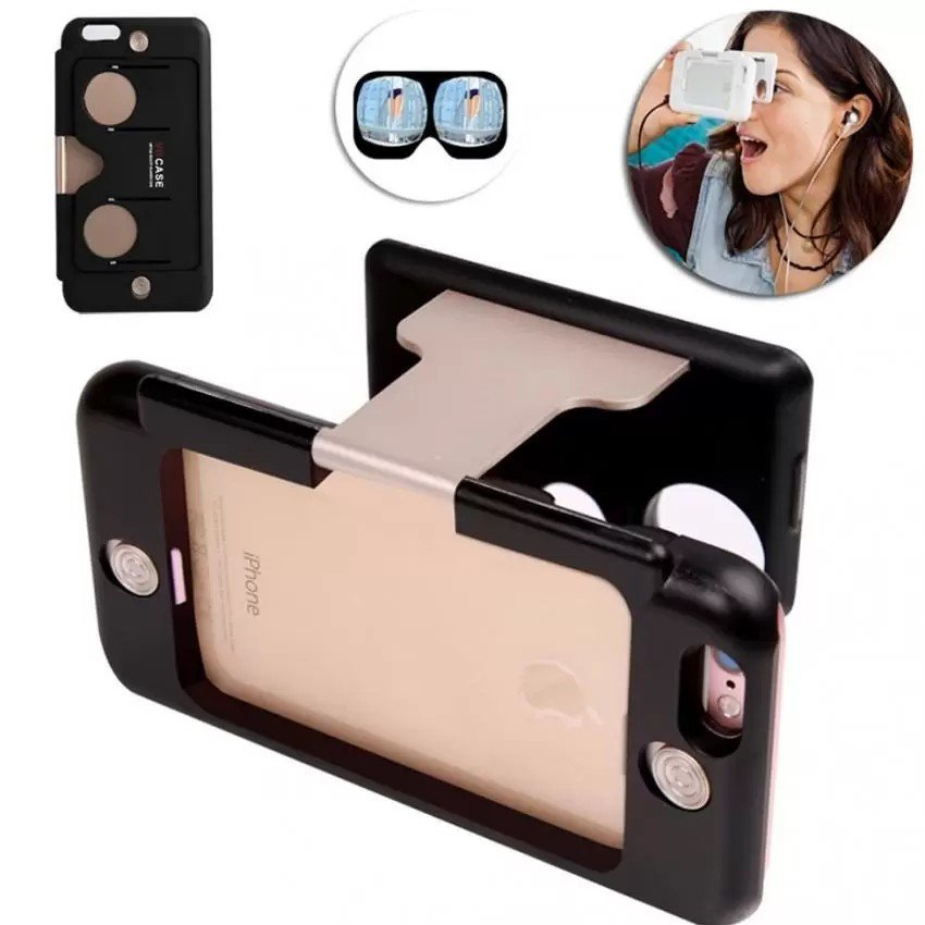 4.7 inch 3D VR Glasses Case Virtual Reality for iPhone 6 6s Gold Apps Game
