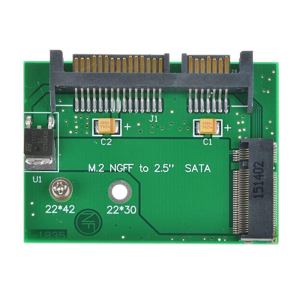 7+15 pin SATA to 22 42mm M.2 NGFF B Key Solid State Drive SSD Adapter Card Board