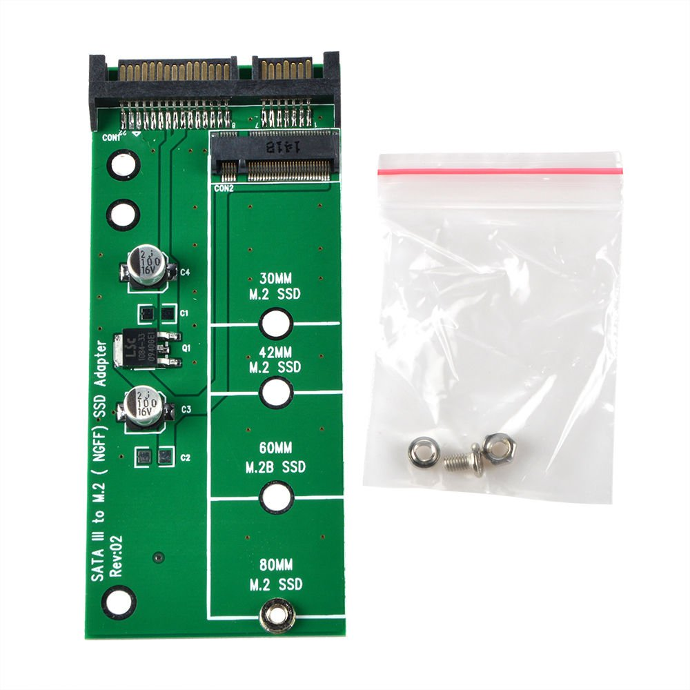 SATA III to M.2 NGFF SSD Disk Converter Adapter Card for DOS Windows Win