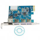 Desktop PCI-E to 3-Port USB 3.0 & Ethernet LAN Gigabit Ethernet RJ45 Port Expansion Card