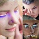 2 Pair LED Blue Color Luminous Eyelash Light Up Fashion False Eye Lash Party Icon Club Bar