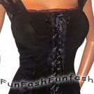 AY30 FUNFASH CORSET GOTHIC BLACK LACE BUSTIER WOMEN PLUS SIZE TOP SHIRT 2X 22 24