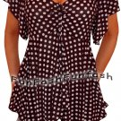 OR3 FUNFASH EMPIRE WAIST BLACK WHITE WOMENS CRUISE PLUS SIZE TOP SHIRT 2X 22 24
