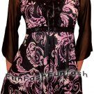 NW2 FUNFASH PLUS SIZE CORSET STYLE BLACK PURPLE WOMEN TOP SHIRT BLOUSE 1X 18 20