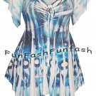 FT2 FUNFASH SLIMMING WHITE BLUE BLACK WOMENS PLUS SIZE TOP SHIRT BLOUSE 1X 18 20
