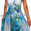 NL2 FUNFASH SLIMMING WHITE EMPIRE WAIST COCKTAIL CRUISE DRESS Plus Size 1X 18 20