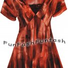XC3 FUNFASH PLUS SIZE TOP COPPER BLACK LACE NEW PLUS SIZE SHIRT BLOUSE 2X 22 24