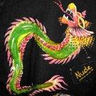 SeXy Black Denim Crop Bolero Jacket S Dragon Size L 9