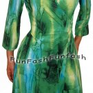 CM9 FUNFASH DRESS EMERALD GREEN WRAP DRESS WOMENS COCKTAIL DRESS Size LARGE 9 11