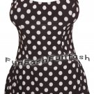 MT9 FUNFASH BLACK WHITE SWIMWEAR SWIMSUIT BATHING SUIT SWIMSUIT SIZE LARGE 9 11