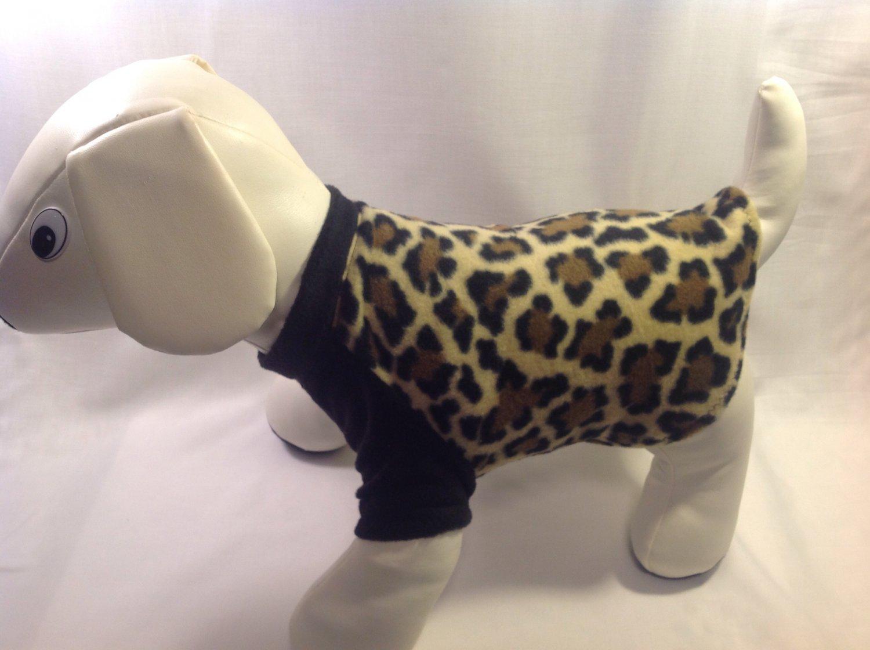 dog shirt X SMALL Brand New Handmade leopard dog shirts fleece sweater sweatshirt puppy