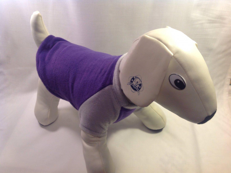 dog shirt X SMALL Brand New Handmade purple dog shirts fleece sweater sweatshirt puppy