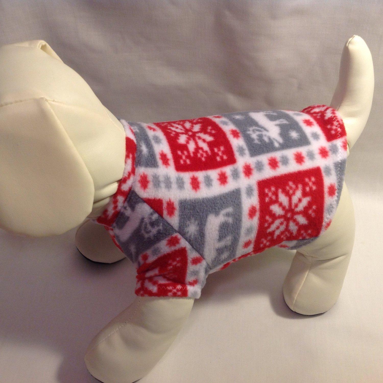 dog shirt X SMALL Brand New Handmade Christmas dog shirts fleece sweater sweatshirt puppy