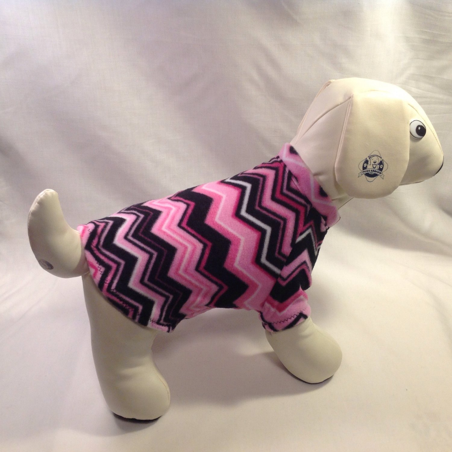 dog shirt X SMALL pink chevron dog shirts fleece sweater sweatshirt puppy