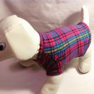 dog shirt SMALL purple plaid dog shirts fleece sweater sweatshirt puppy