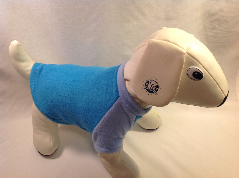 dog shirt MEDIUM blue dog shirts fleece sweater sweatshirt puppy
