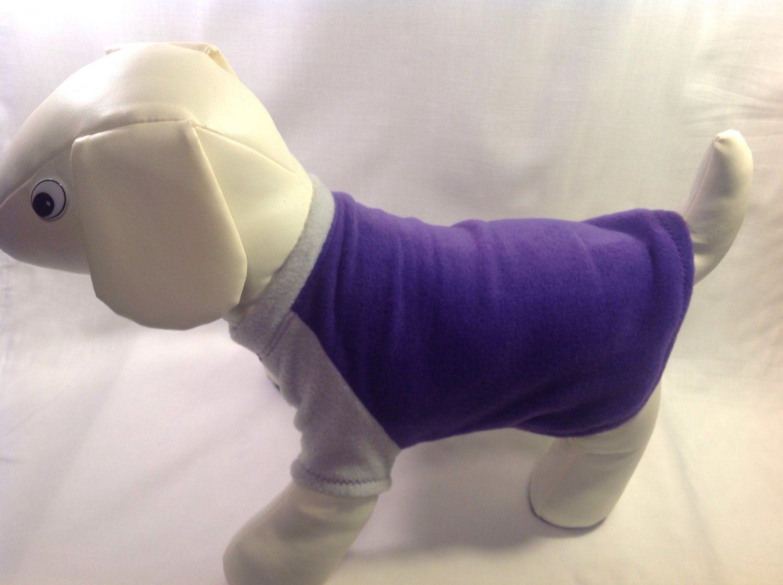 dog shirt LARGE purple dog shirts fleece sweater sweatshirt puppy