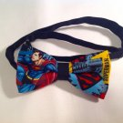 Bow tie men superman neckband cotton pretied superhero