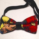 Bow tie men wolverine comic neckband cotton pretied superhero