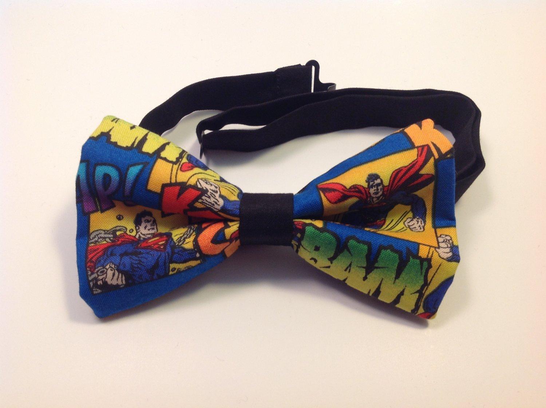 Bow tie men superman comic neckband cotton pretied superhero
