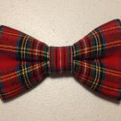 Bow tie men red tartan plaid cotton pretied bowtie present gift fathers day