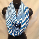 infinity scarf women blue striped shawl scarves nautical