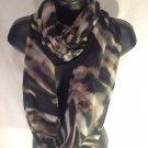 infinity scarf women chiffon black tye dye shawl scarves