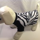 dog shirt LARGE black white zebra dog shirts fleece sweater sweatshirt puppy