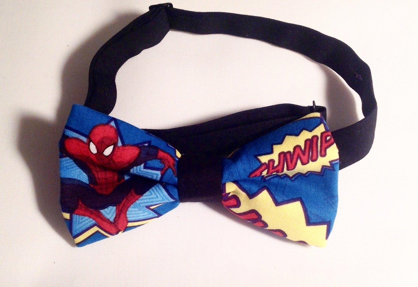 Bow tie men spiderman comic neckband cotton pretied superhero