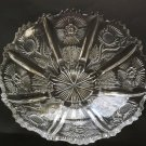 "Paneled Thistle HOBSTAR GLASS Bowl Antique John Higbee Jefferson EAPG 9-3/4"" W"