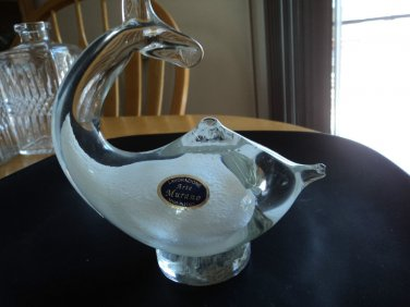 Arte Murano Dolphin on ball Crystal white NICE