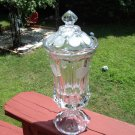 "Fostoria COIN GLASS CLEAR 13"" URN FOOTED CLEAR CRYSTAL LIDDED"