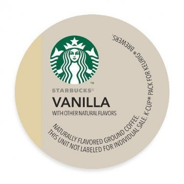 Starbucks Vanilla Coffee K-Cup Portion Pack for Keurig K-Cup Brewers, 10 Coun...