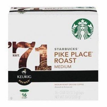 Starbucks Coffee Pike Place Roast K-Cups, 16 ea [Misc.]