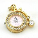 16GB Gold Pendrive Clock Couple Lover Design Crystal USB Flash drive Memory Thumb Stick lN003