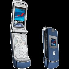 UNLOCKED MOTOROLA V3 Cosmic Blue RAZR RAZOR PHONE New