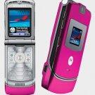 UNLOCKED MOTOROLA V3 Pink RAZR RAZOR PHONE GSM New