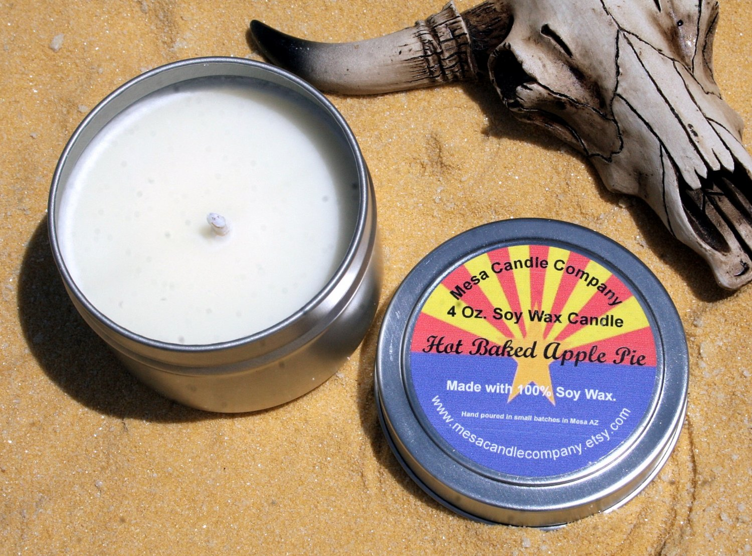 Hot Baked Apple Pie Scented Soy Candle 4 Oz.