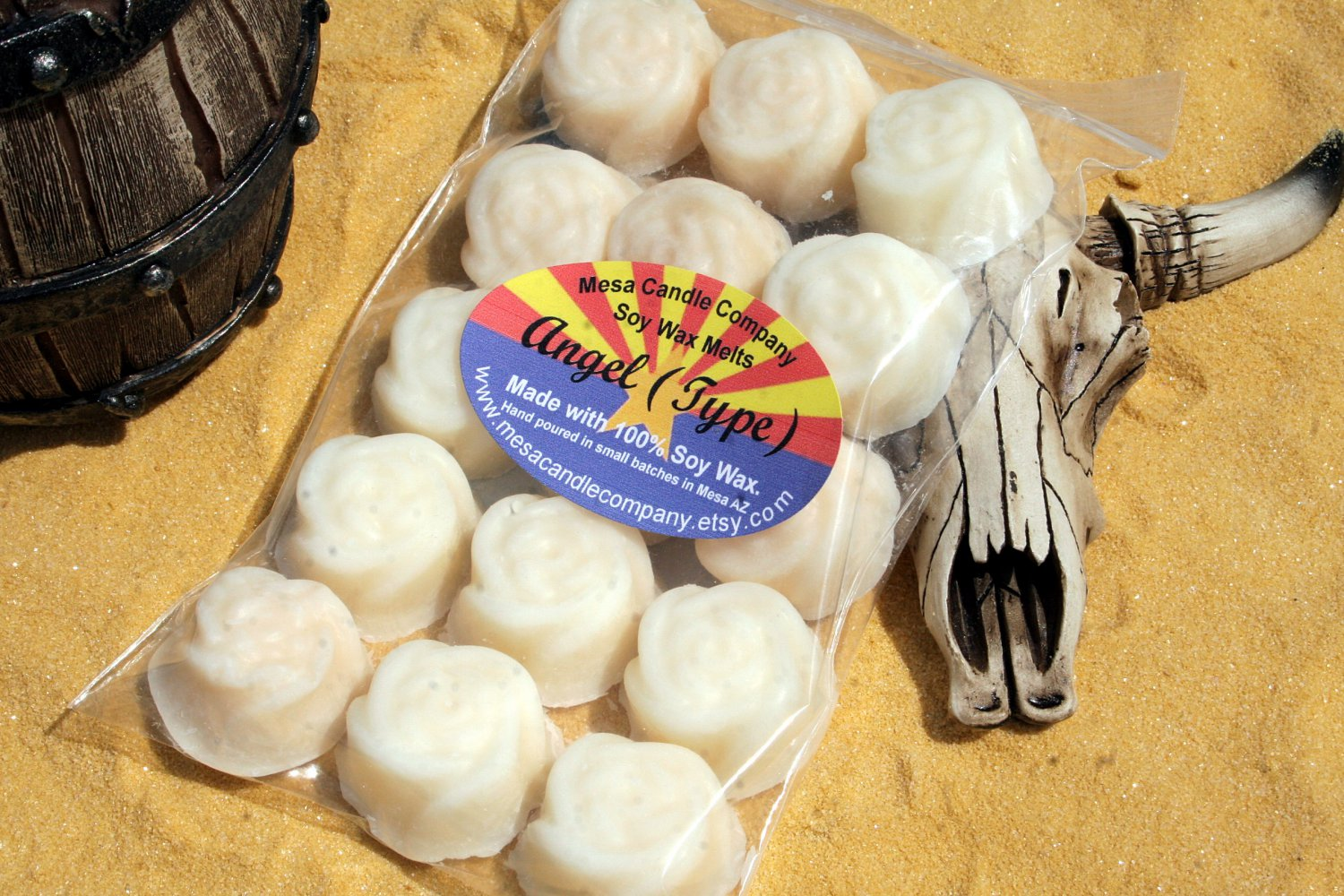 """Angel (Type) Scented Soy Wax Melts """"Desert Rose"""" Style"""