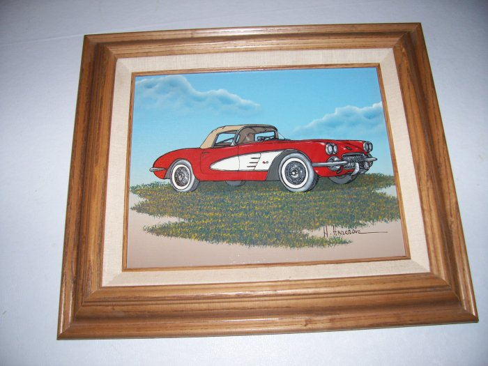 Corvette Painting by H. Hargrove